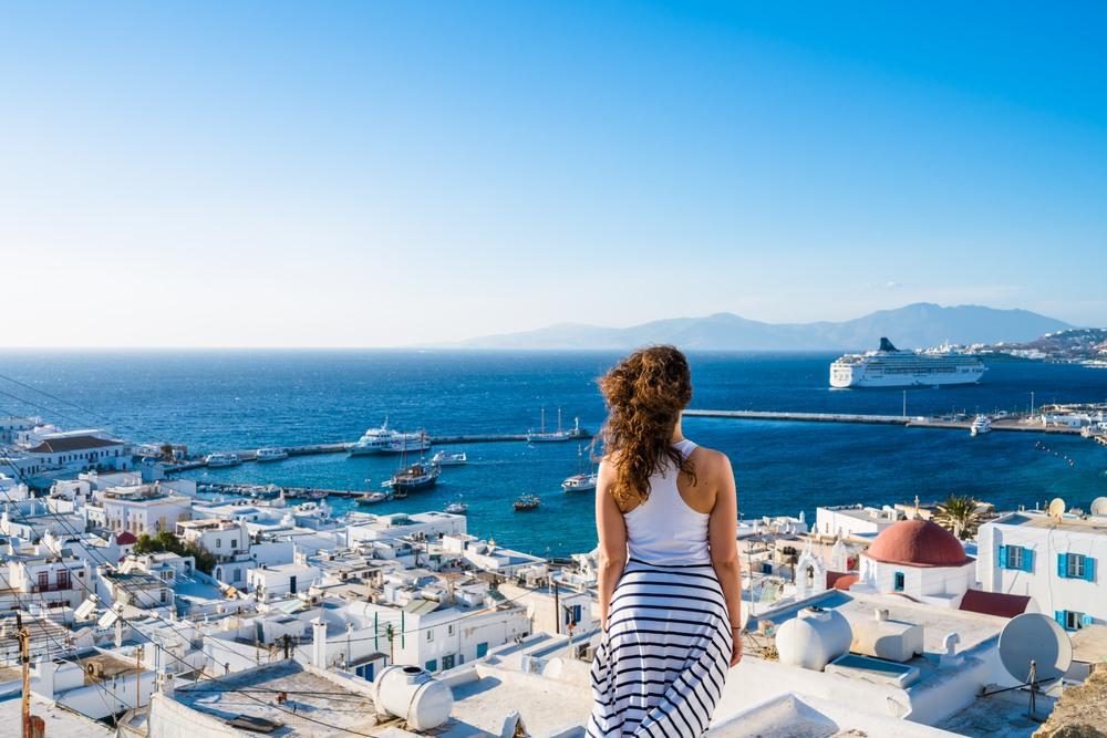 Vistas al puerto de Mykonos