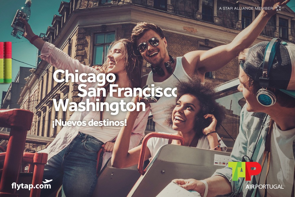 TAP Air Portugal. Nuevas rutas a Chicago, San Francisco y Washington