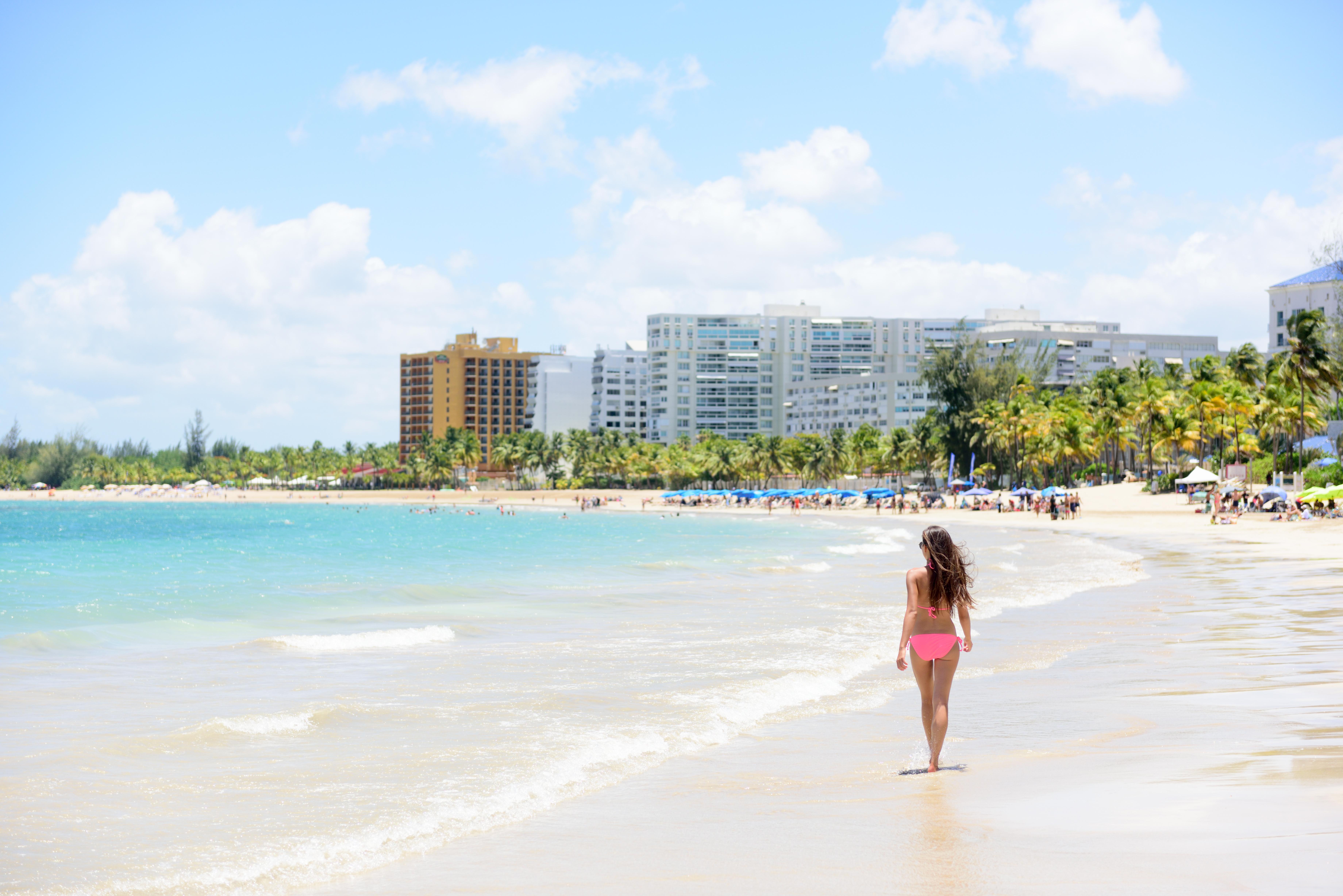 Isla Verde Beach en Puerto Rico