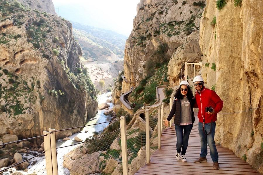 Excursionistas por el Caminito del Rey