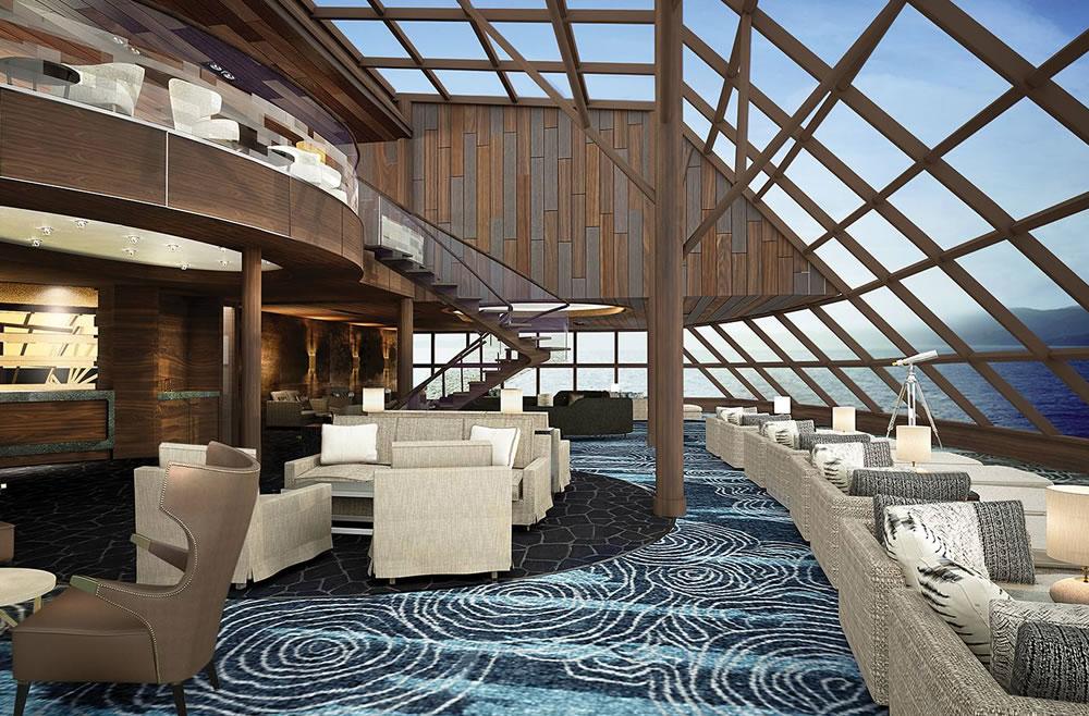 Salón mirador a bordo The Haven