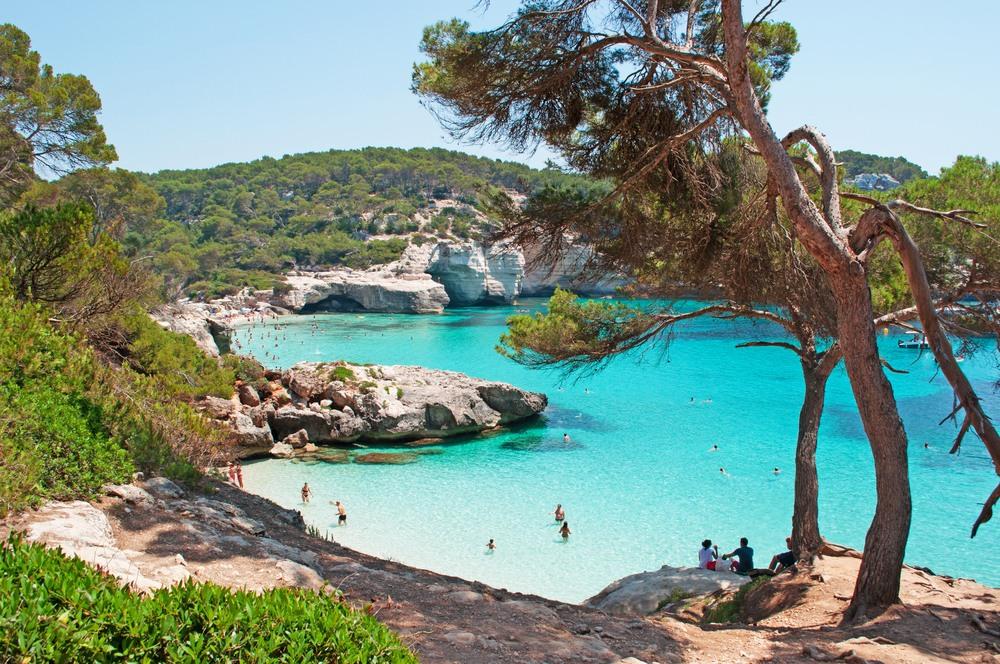 Playa Cala Mitjaneta en Menorca