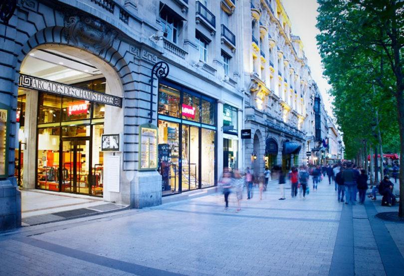 Centros Comerciales en La gran Avenue des Champs-Élysées