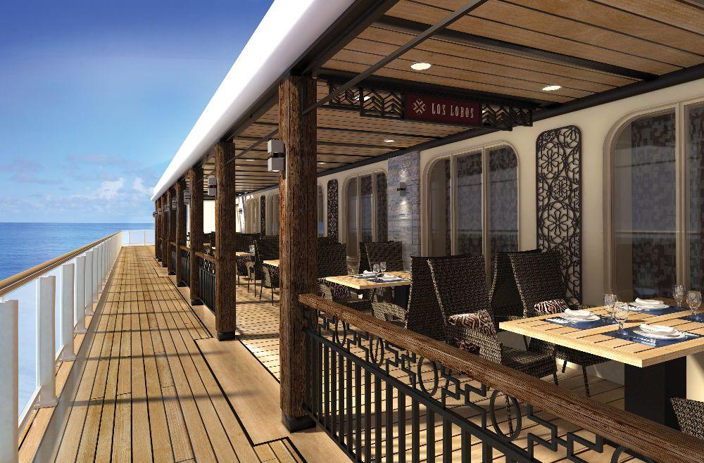 """Restaurante exclusivo a bordo """"Los Lobos"""""""