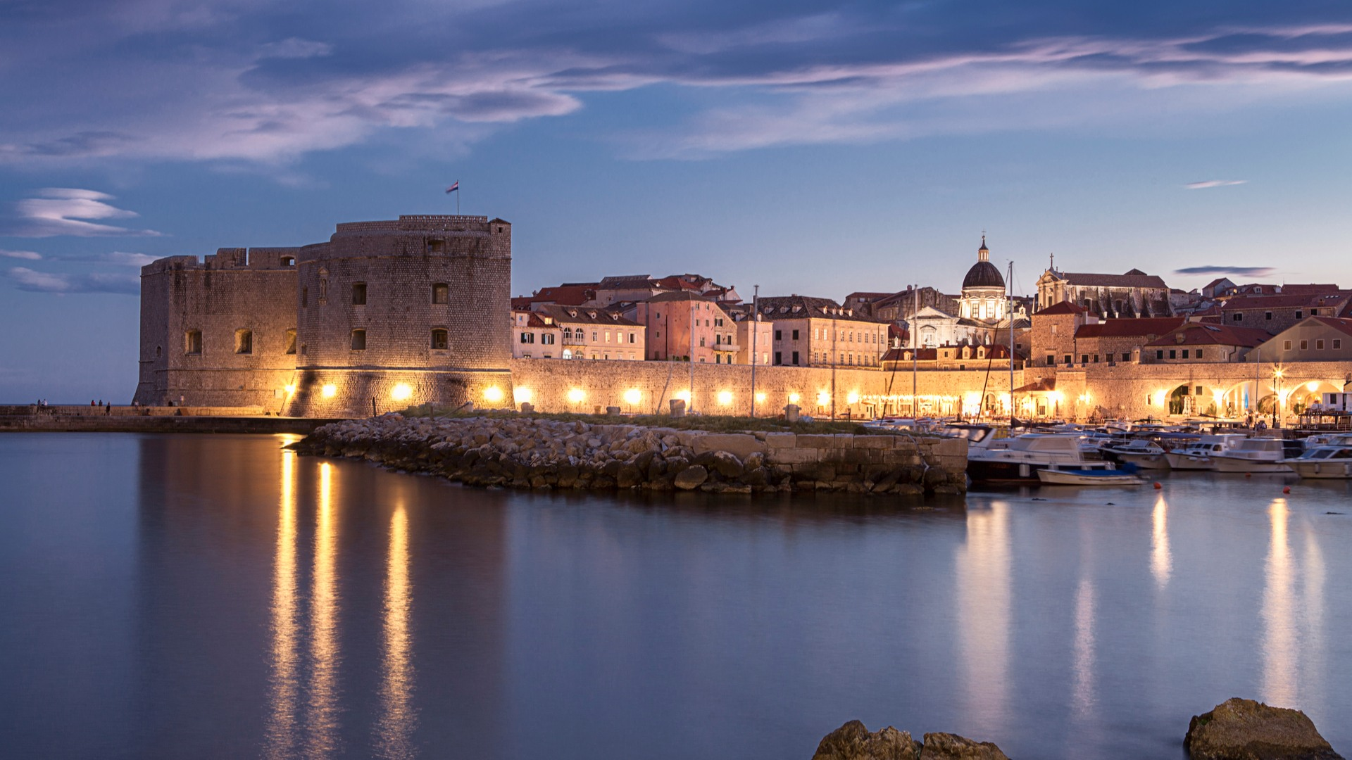 """Puerto de Duborvnik, unos de los escenarios de """"Desembarco del rey"""" en Juegos de Tronos"""