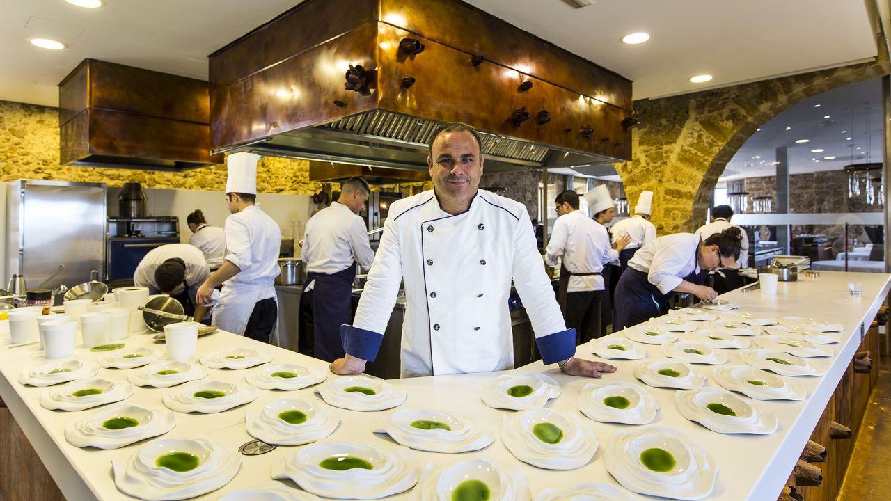 Ángel León en Restaurante Aponiente