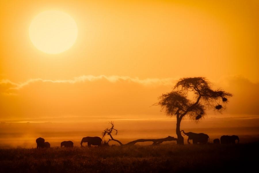 Atardecer en Kenia