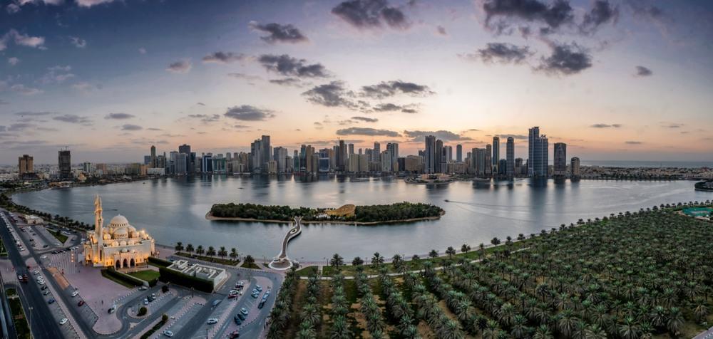 Vista panorámica del Emirato Sharjah