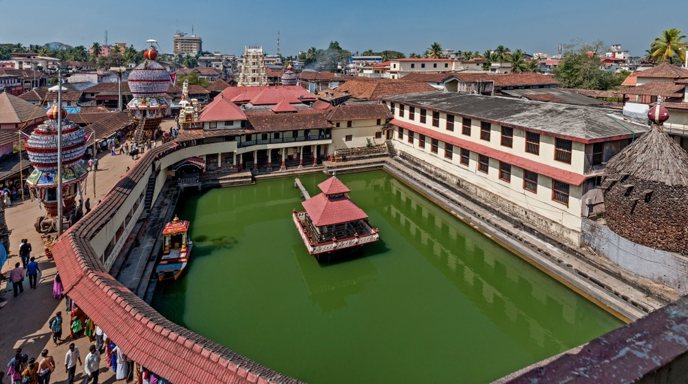 Campus de Sri Krishna en el templo de Udupi