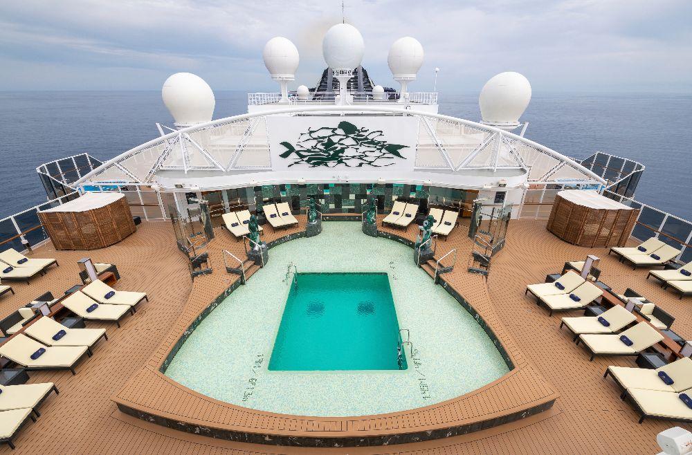 Una de las increíbles piscinas del barco MSC Seaview