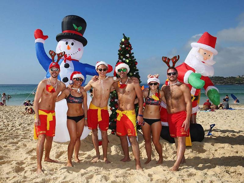 Navidades en una playa de Australia