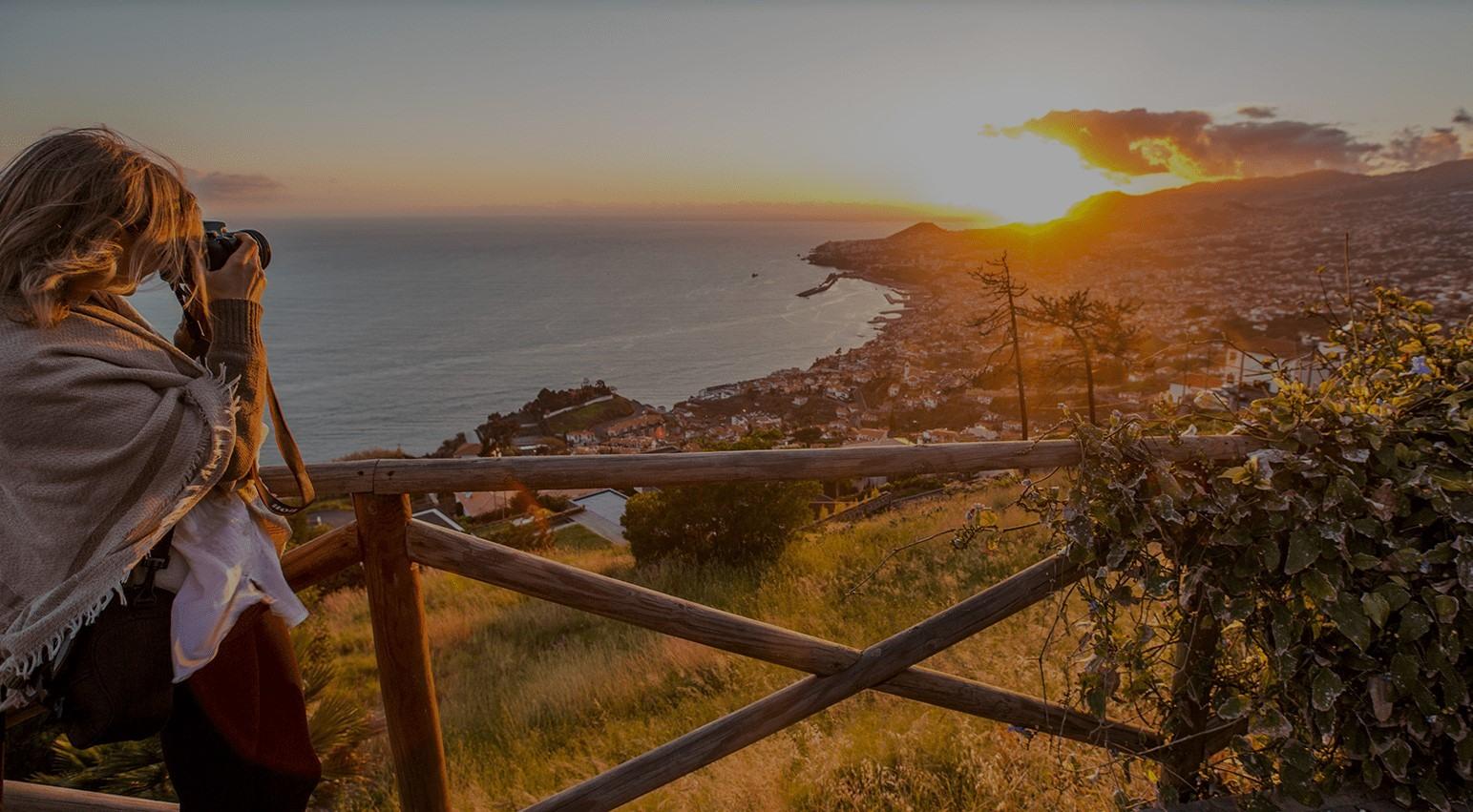 Vistas de Madeira desde un mirador