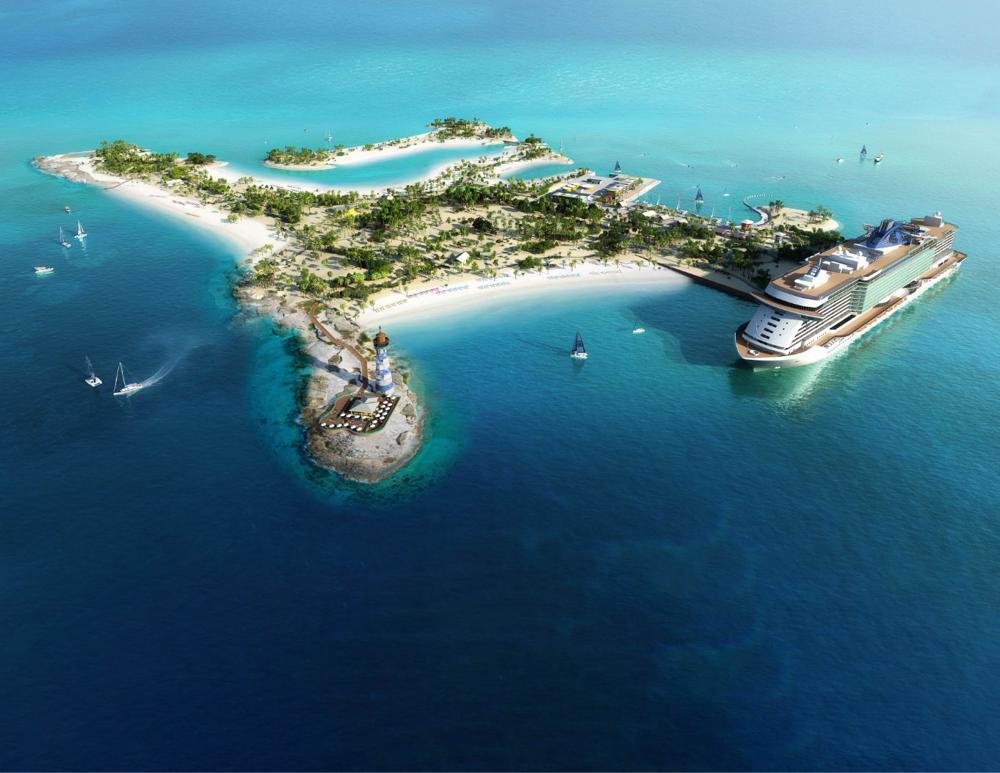Vista Panorámica de Ocean Cay