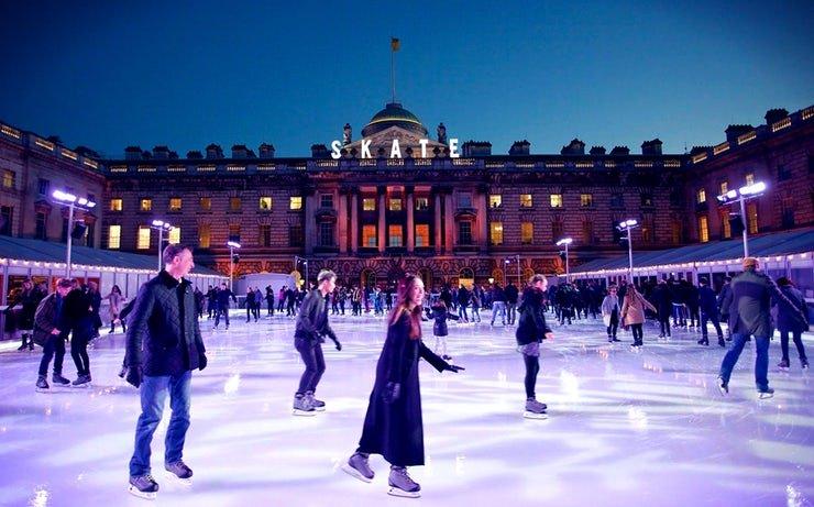 Pista de hielo de Somerset House Ice Rink en Londres