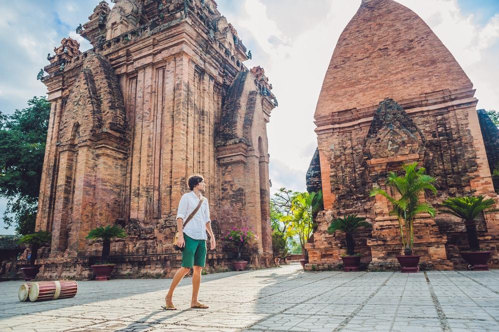 Chico de turismo por Vietnam
