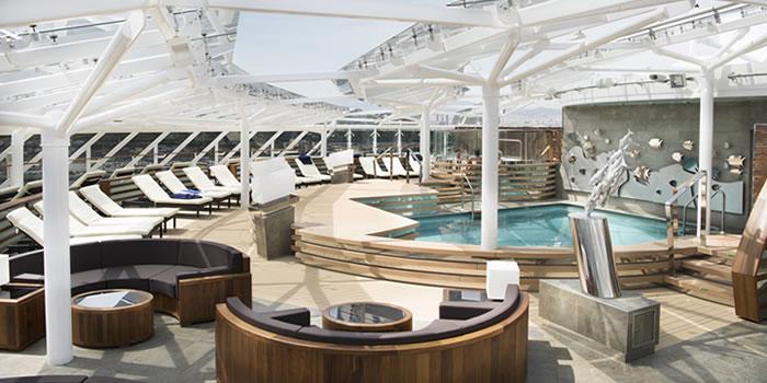 Instalaciones en la zona de MSC Yacht Club
