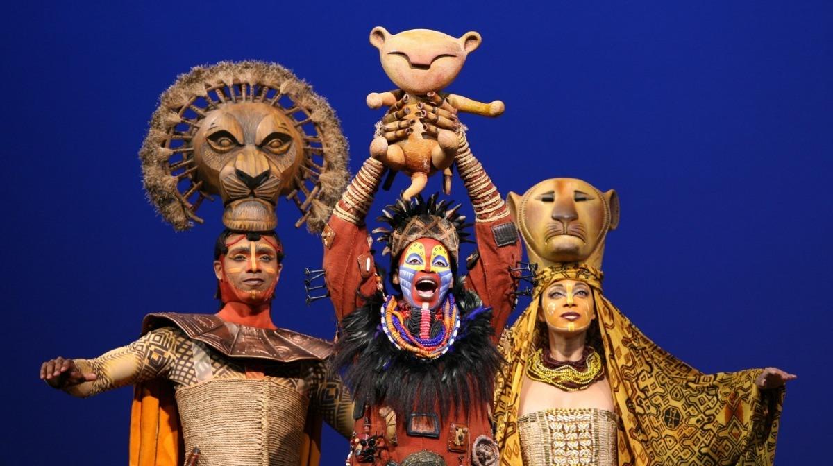 Escena del musical de El Rey León