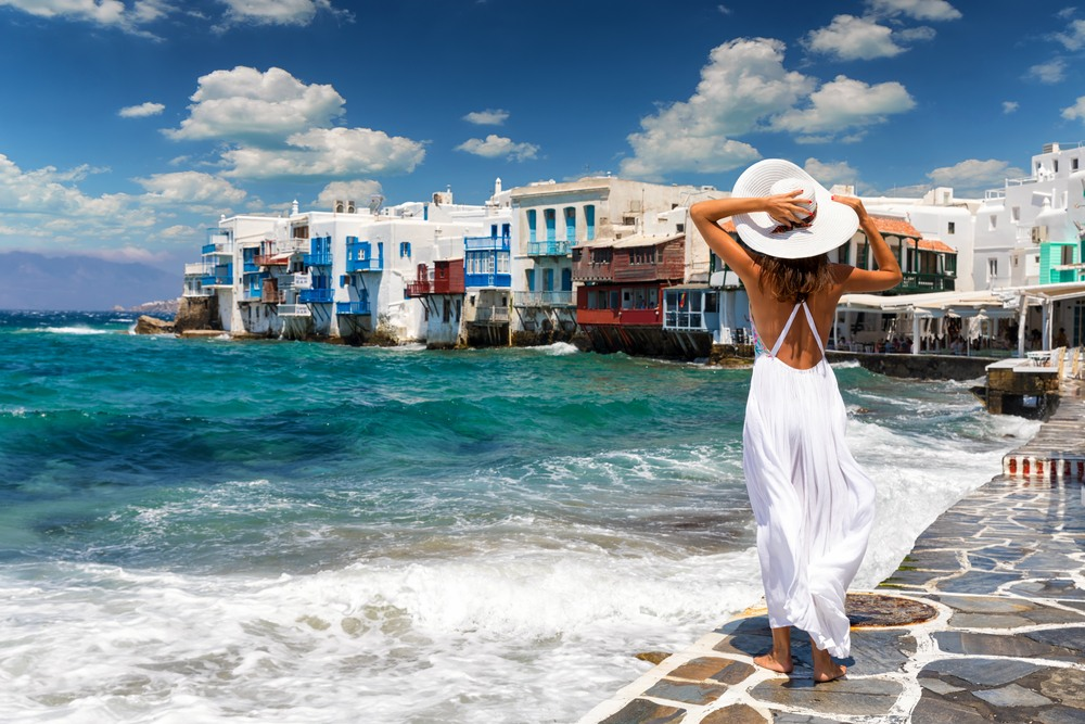Mikonos, una de las islas en el itinerario por Islas Griegas