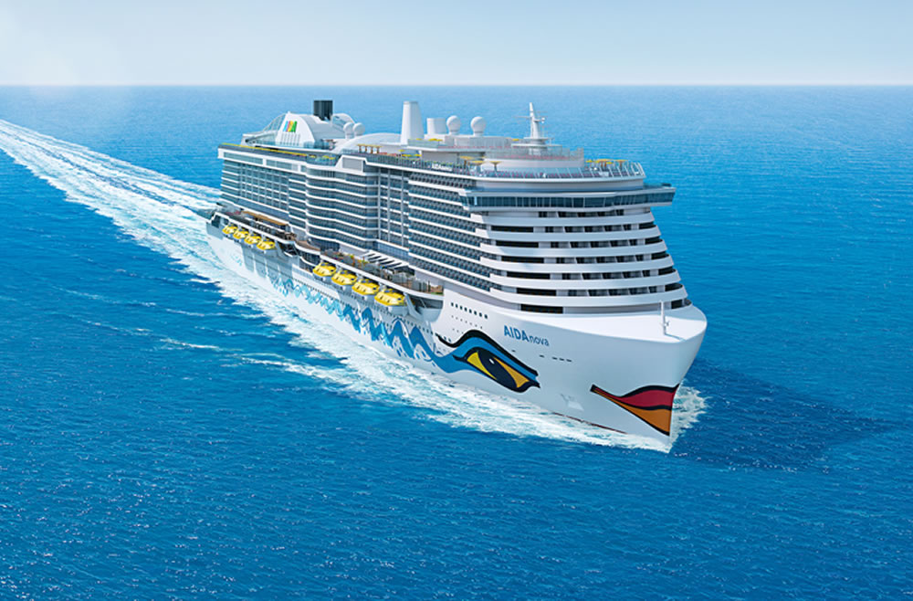 """El barco más nuevo de Aida, el """"Aida Nova"""""""