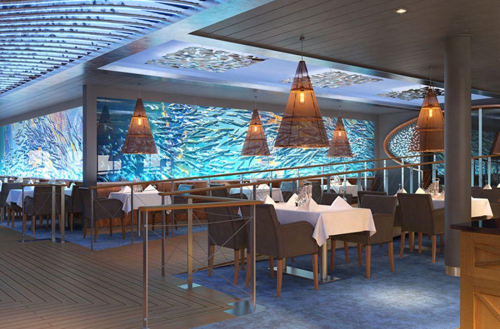 Uno de los restaurantes del Aida Nova, el Ocean Restaurant.