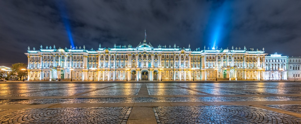 Increíble imagen del Palacio de Invierno en San Petersburgo